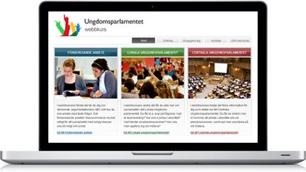 Ungdomsparlamentet webbkurs